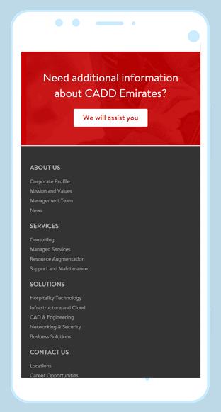 CADD Emirates case study | web development