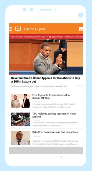 Citizen TV news app development