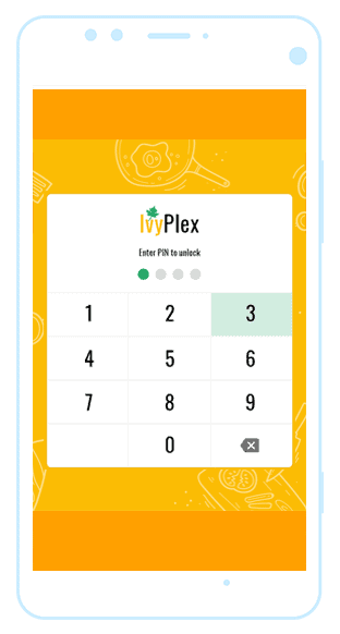 IvyPlex restaurant mobile application
