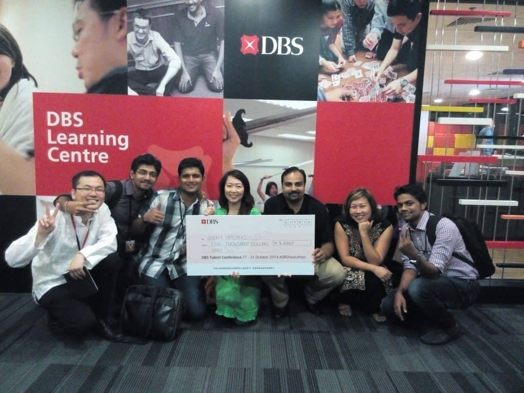 AlignMinds has won DBS Hackathon two consecutive years back to back