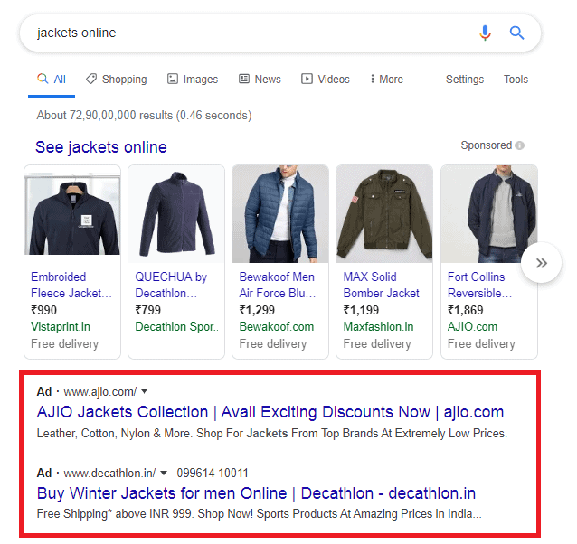 Google Ads (formerly Google AdWords) in action