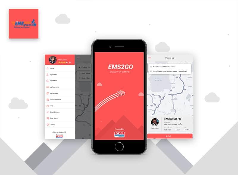 EMS2GO mobile app