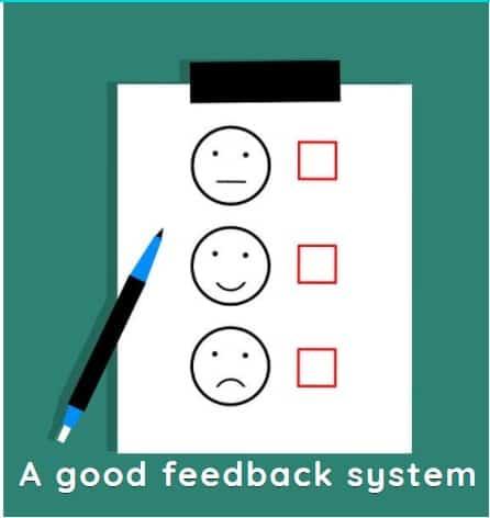 A good feedback system
