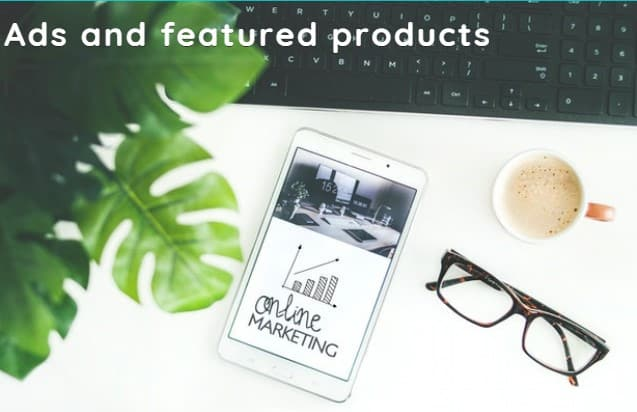 Ads and featured products