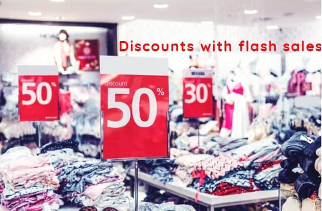 Discounts with flash sales