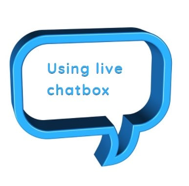 Using live chatbox