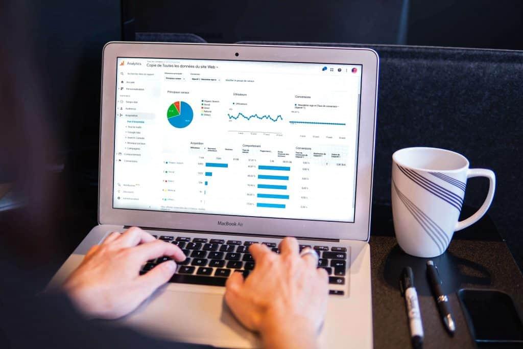 Google Analytics showing better user engagement as the website is custom designed