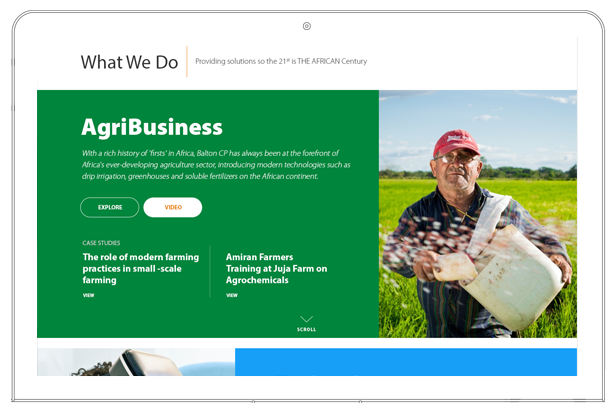 Balton CP website agribusiness section