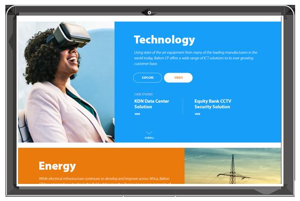 Balton CP website technology section