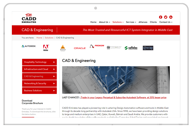 CADD emirates website engineering