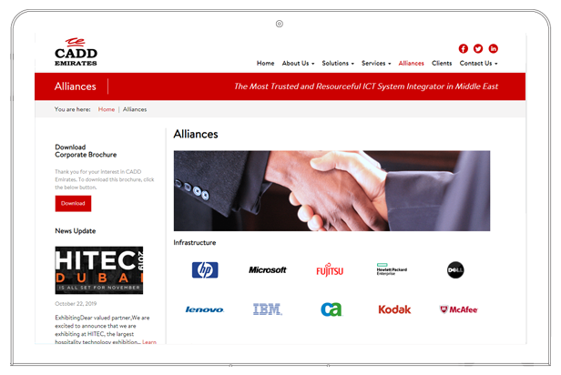 CADD emirates website alliances
