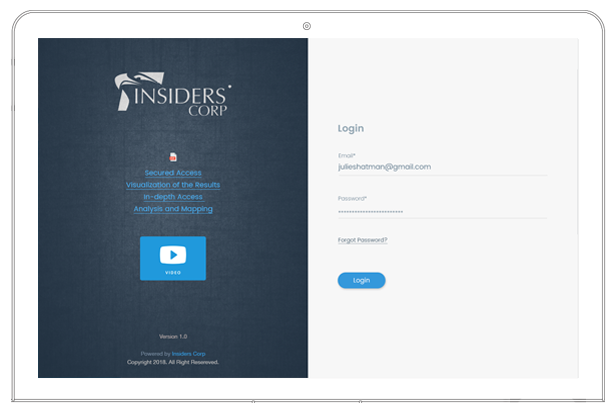 InsiderCorp anti-counterfeiting login
