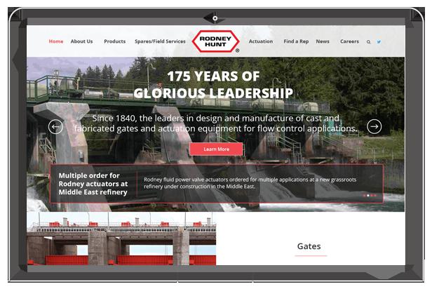 Rodney hunt website homepage