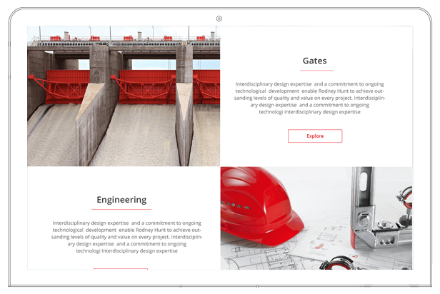 Rodney hunt website products section on the homepage
