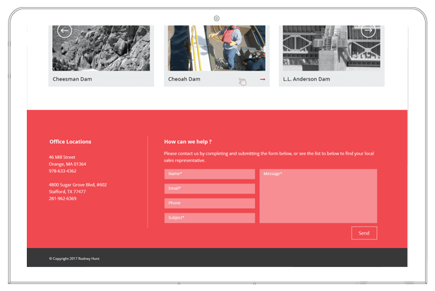 Rodney hunt website contact form